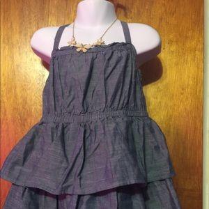 Denim like Cherokee ruffle babydoll dress size: 5T